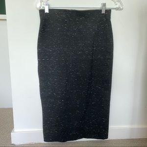 Aritzia Wilfred Lis Pencil Skirt in Heather Black